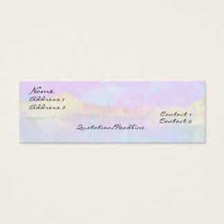 Vibrant Lake Abstract Mini Business Card