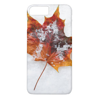 Vibrant Leaf in the Snow iPhone 7 Plus Case