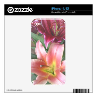 Vibrant Lily Duo Decal For The iPhone 4S