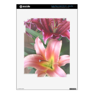 Vibrant Lily Duo Decals For iPad 3