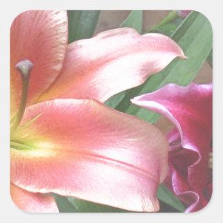 Vibrant Lily Duo Square Sticker