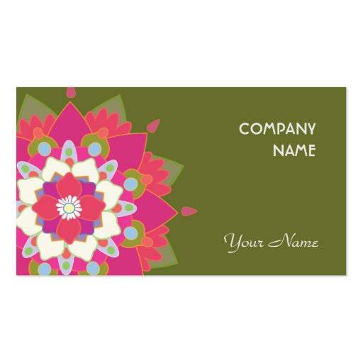 Vibrant Lotus Business Card