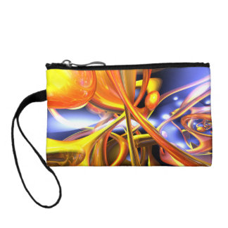 Vibrant Love Abstract Change Purse
