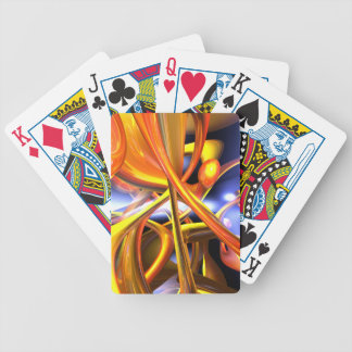 Vibrant Love Abstract Poker Cards