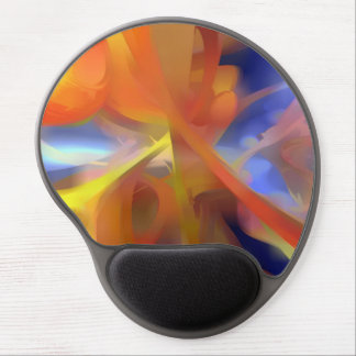 Vibrant Love Pastel Abstract Gel Mouse Pad