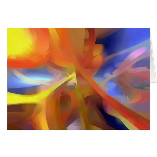 Vibrant Love Pastel Abstract Greeting Card