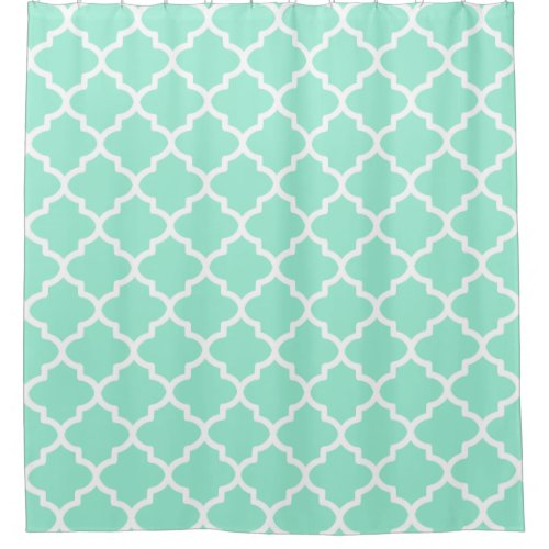 Vibrant Mint Shower Curtain