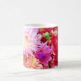 Vibrant Mixed Flower Bouquet Background Coffee Mug