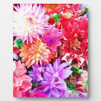 Vibrant Mixed Flower Bouquet Background Plaque