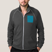Vibrant Modern Abstract Lattice Aqua Blue Quilt Jacket