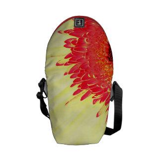 vibrant modern gerbera daisy flower petals closeup messenger bags
