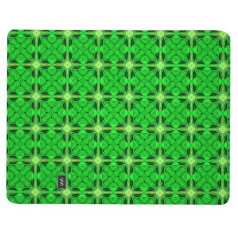 Vibrant Modern Lime Glowing Green Lattice Journal