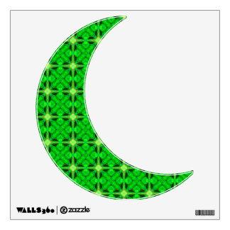 Vibrant Modern Lime Glowing Green Lattice Wall Sticker