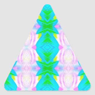 Vibrant Modern Pastels Abstract linear Pattern Triangle Sticker