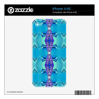 Vibrant Modern Shades Of Blue Purple Skin For iPhone 4