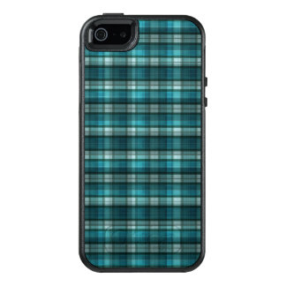 Vibrant & Modern Teal Plaid Pattern OtterBox iPhone 5/5s/SE Case