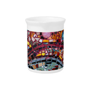 Vibrant Mosaic Wall Art Pitcher