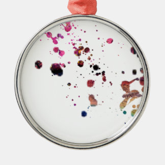 Vibrant Multi-Colored Splashes Dancing Across... Metal Ornament