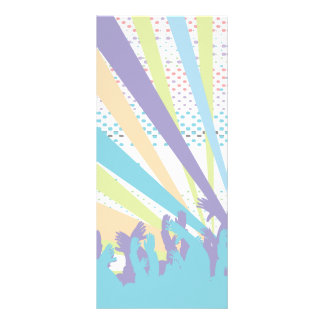 vibrant music concert party vector design rack card