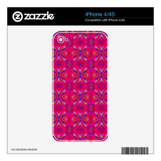 Vibrant Neon Hot Pink Chic Pattern Decal For The iPhone 4S