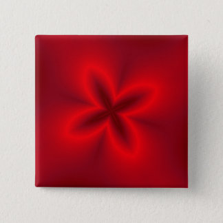 Vibrant Neon Red Flower Button