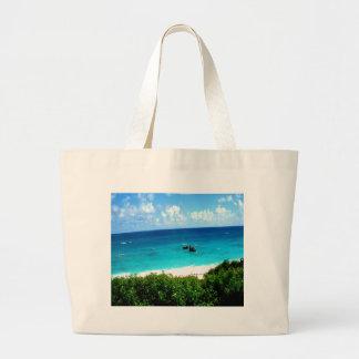 vibrant ocean water sky beauty tote bags