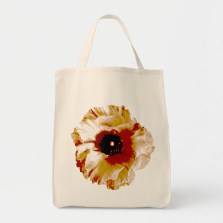 vibrant orange and white ranunculus tote bag