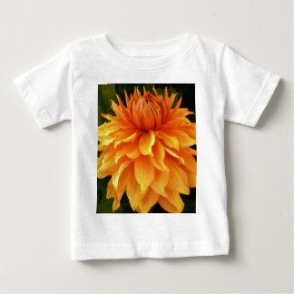 vibrant orange dahlia flower baby T-Shirt