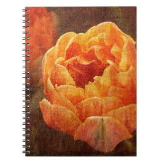 vibrant orange garden tulip notebook notebook