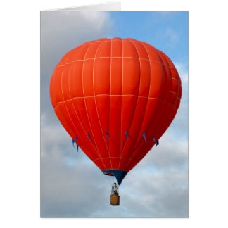 Vibrant Orange Hot Air Balloon Card