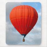Vibrant Orange Hot Air Balloon Mousepad