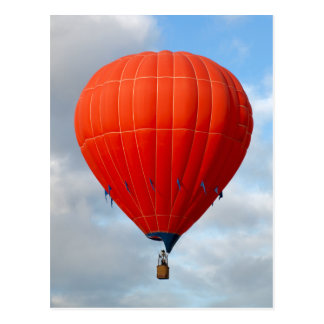 Vibrant Orange Hot Air Balloon Postcard