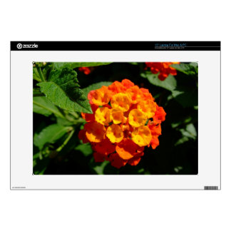 "Vibrant orange lantana flower Laptop Skin 15"""