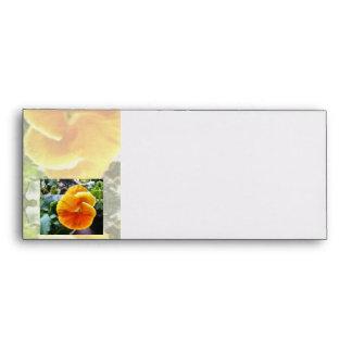 Vibrant Orange Pansy Natural Botanical Envelope