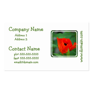 Vibrant Orange Poppy Double-Sided Standard Business Cards (Pack Of 100)