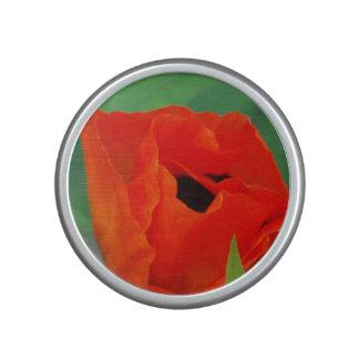 Vibrant Orange Poppy Speaker