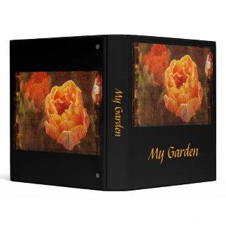 Vibrant orange tulip binder