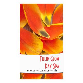 Vibrant Orange Tulip Petals Photograph Business Card