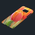 "Vibrant Orange Tulip Photograph Samsung Galaxy S7 Case<br><div class=""desc"">Focus in this close up floral photograph is on the forward vibrant yellow edged orange tulip with others in the background. Click Customize it! to add text in a font style,  size and color you prefer.</div>"