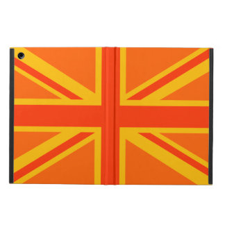 Vibrant Orange Union Jack British Flag Swag iPad Air Cover