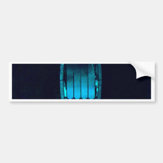 Vibrant Oval Teal Cut glass Refreshing Soul quote Bumper Sticker
