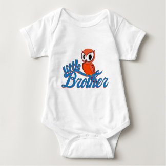 Vibrant Owl Little Brother Baby Bodysuit