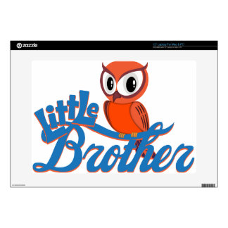 """Vibrant Owl Little Brother Decal For 15"""" Laptop"""