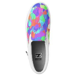 Vibrant Paint Splatter Artist Shoes