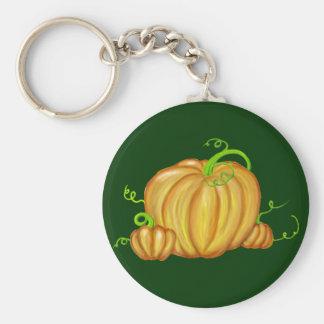 Vibrant Painted Pumpkins Keychain