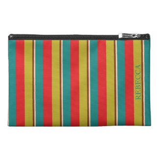 Vibrant Palette Stripe Personalized Travel Accessory Bag