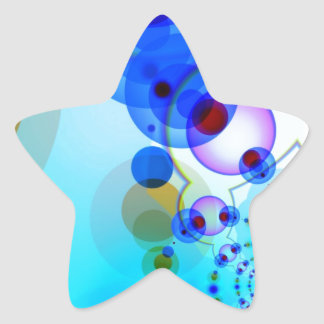 Vibrant pattern- Bluish Tinge ! Star Sticker