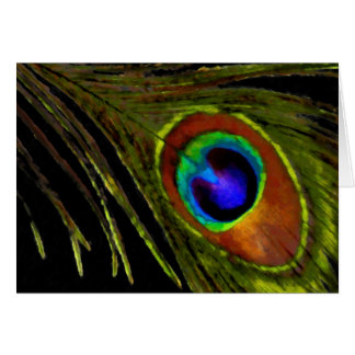 Vibrant Peacock Feather Card