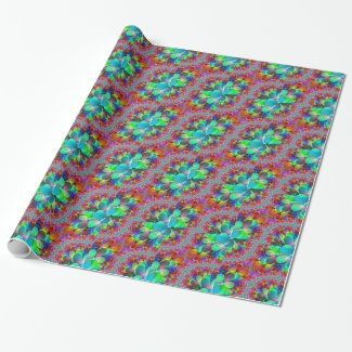 Vibrant Peacock Tail Gift Wrapping Paper