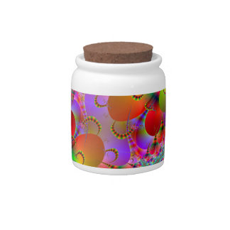 Vibrant Peacocks Tails Candy Jars